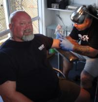 Getting my new tattoo
